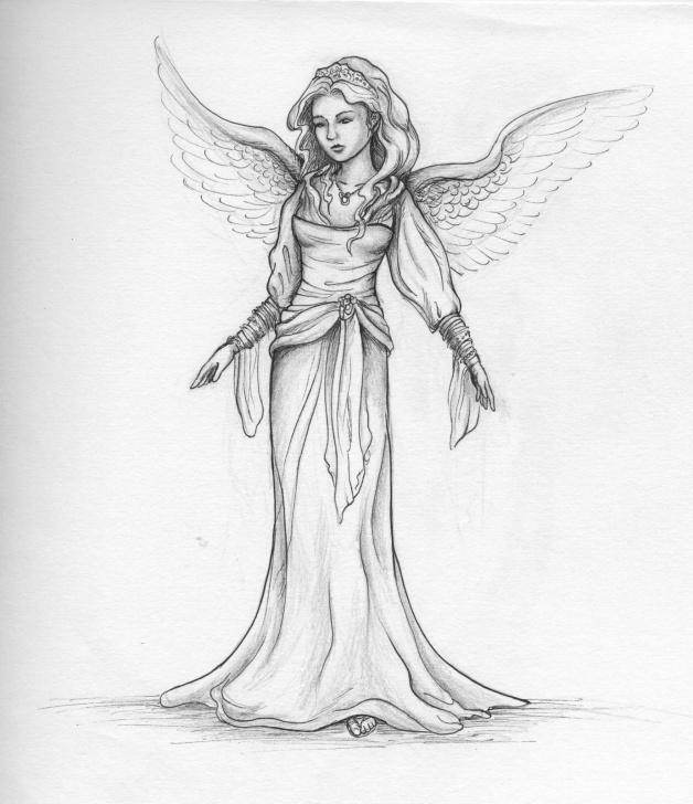 Remarkable Pencil Sketches Of Fairies And Angels Easy Angels In Pencil - Google Search | Draw&art | Angel Drawing, Pencil Photo