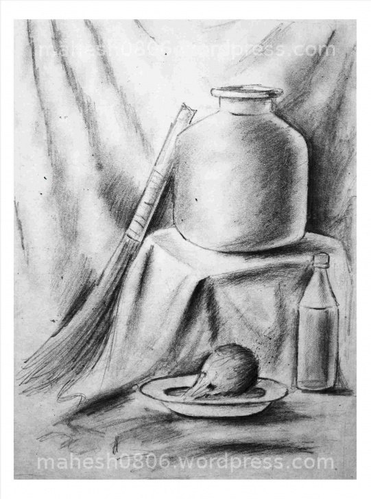 Remarkable Pencil Sketches Of Objects Simple Still Still Life Pencil Sketches Of Objects Life Drawings By Pic