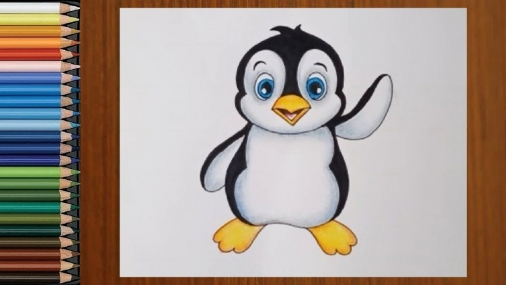 Remarkable Penguin Drawings In Pencil Easy Pencil Drawing - How To Draw Cartoon Penguin With Pencil | Easy Drawing  Tutorial Pics