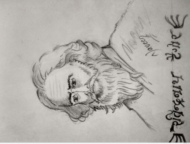 Remarkable Rabindranath Tagore Pencil Sketch Courses Wonderful Pencil Sketch Of Rabindranath Tagore | Desipainters Pictures