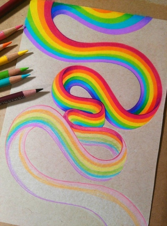 Remarkable Rainbow Pencil Drawing Step by Step Learning To Draw? You're Gonna Need A Pencil | Colored Pencil Images