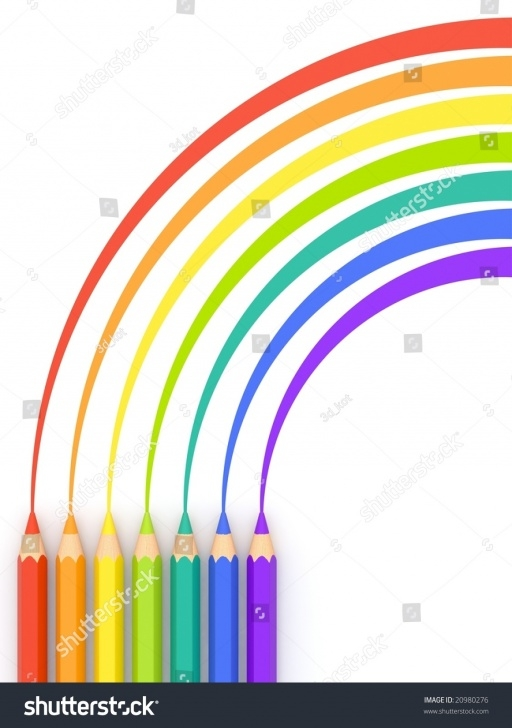 Remarkable Rainbow Pencil Drawing Techniques Colored Pencils Drawing Rainbow Stock Illustration 20980276 Pictures