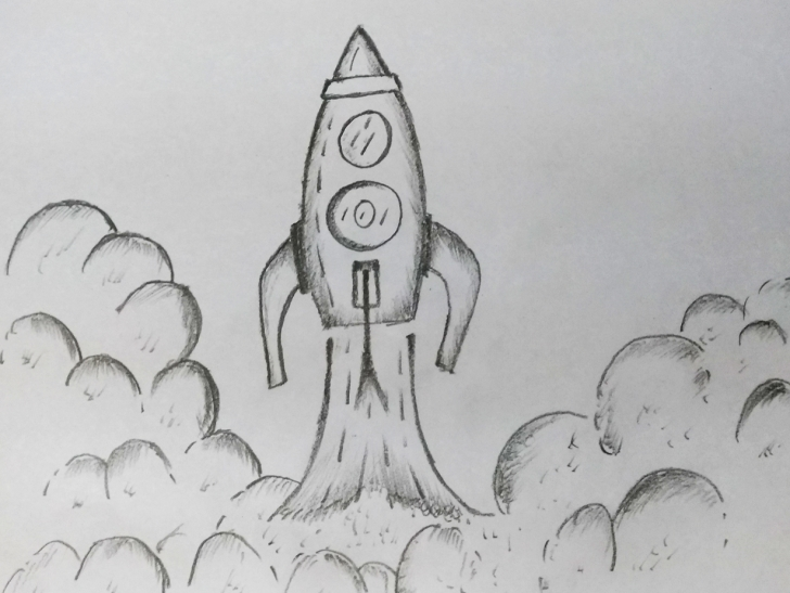 Remarkable Rocket Pencil Drawing Tutorial Rocket Drawing By Mlspcart On Dribbble Photo
