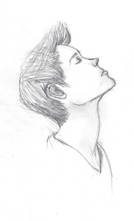 Sad Boy Pencil Sketch