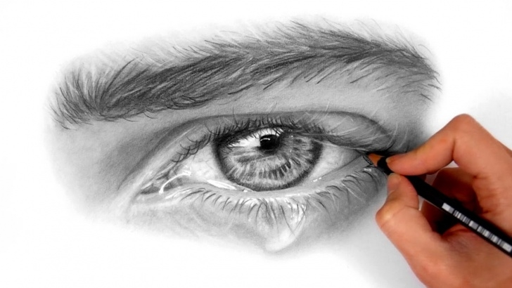 Remarkable Shading With Graphite Pencils Tutorial Timelapse | Drawing And Shading A Realistic Eye With Teardrop Using  Graphite Pencils | Emmy Kalia Photos