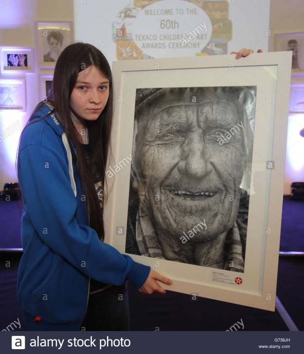Remarkable Shania Mcdonagh Artist Lessons 60Th Texaco Children's Art Competition Stock Photo: 107637449 - Alamy Pic