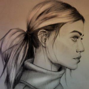 Remarkable Side Portrait Drawing Simple Side Portrait - Constructive Criticism Please - Drawing Photo