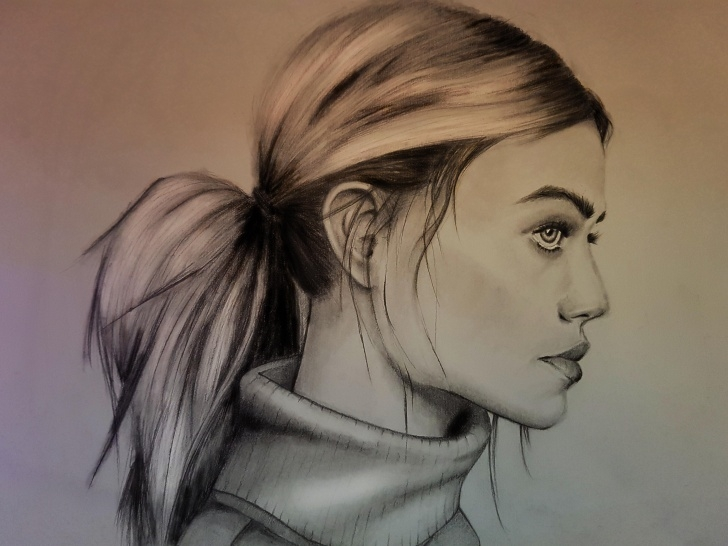 Remarkable Side Portrait Drawing Simple Side Portrait - Constructive Criticism Please - Drawing Photo
