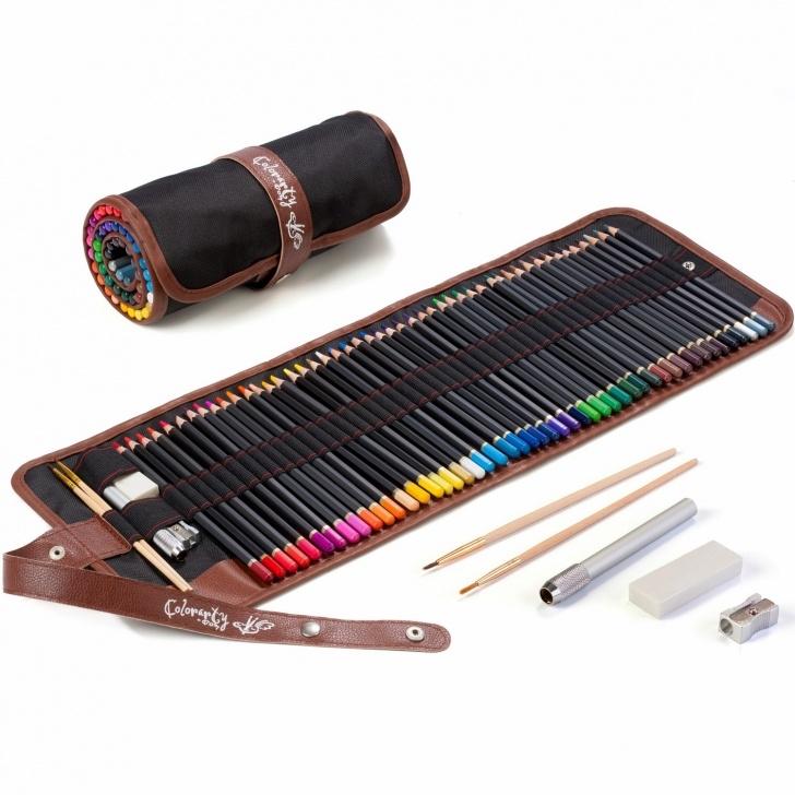 Remarkable Soft Grade Pencil Easy Colorarty 48 Vivid Watercolor Pencil Set, Artist Grade 3.8Mm Soft Picture