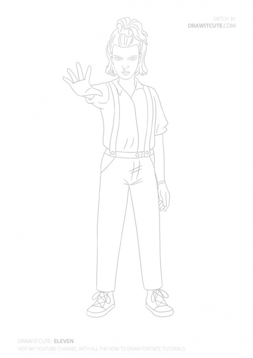 Remarkable Stranger Things Drawing Easy Tutorials How To Draw Eleven | Stranger Things 3 - Draw It Cute Photos