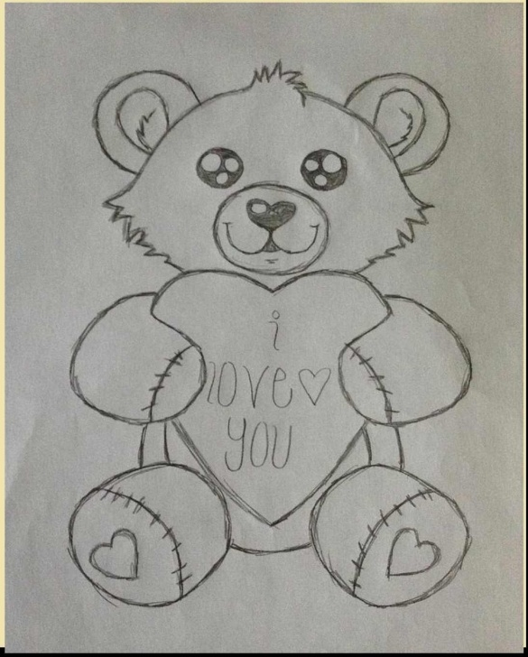 Teddy Bear Pencil Sketch