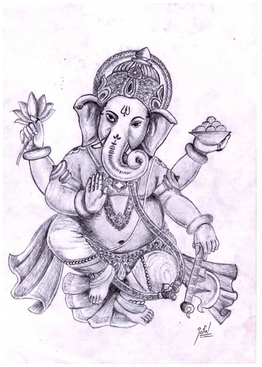 Remarkable Vinayagar Pencil Drawing Easy Pencil Sketch Of Lord Ganesha | Sketches That Inspire In 2019 Image
