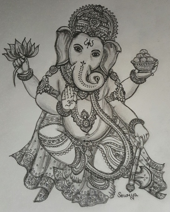 Remarkable Vinayagar Pencil Sketch Techniques for Beginners Vinayaka Chaturthi Special Drawing By Smt. Sowmya Murali! – Sage Of Image