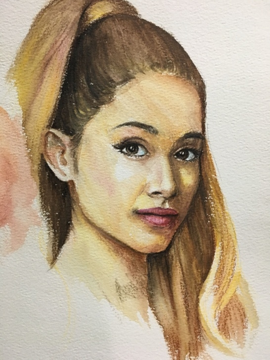 Remarkable Watercolor Pencil Portrait Tutorial Ariana Grande Watercolor Pencil Portrait | Paintings In 2019 Photo