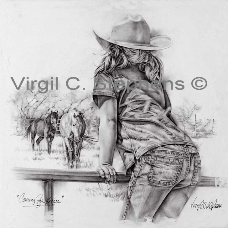 Remarkable Western Cowboy Pencil Drawings Simple Pencil Drawings Depicting Western Art, Wildlife, And Americana By Picture