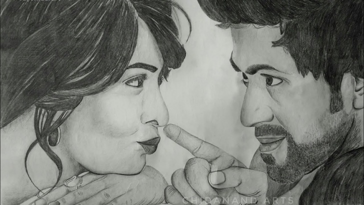 Remarkable Yash Pencil Sketch Courses Drawing Rockingstar Yash - Radhika Pandit | Pencil Images