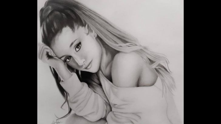 Stunning Ariana Grande Pencil Sketch Tutorial Drawing Ariana Grande Picture