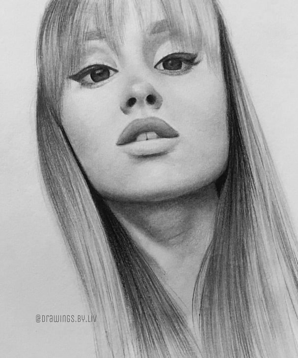 Stunning Ariana Grande Pencil Sketch Tutorial Pin By Ariana Grande✔️ On Drawing In 2019 | Ariana Grande Drawings Pictures