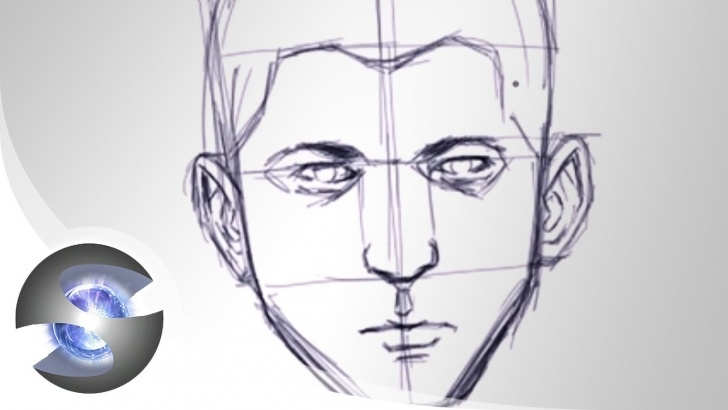 Stunning Basic Portrait Drawing Simple Sketching A Face- Basic Proportions Pics