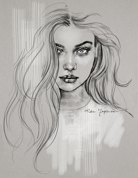 Stunning Beautiful Girl Sketch Courses The Most Beautiful! Drawing Ever! ______ An Absolute. . . One Of The Photos