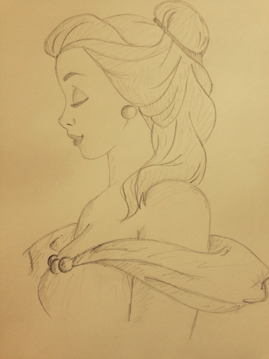 Stunning Beauty And The Beast Pencil Drawing for Beginners Princess Belle Beauty And The Beast Pencil Sketch Disney | Art In Picture