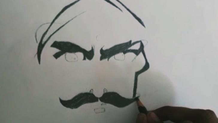 Stunning Bharathiyar Pencil Drawing Tutorial Bharathiyar Drawing Rowthiram Pazhagu❣️❣️ Images