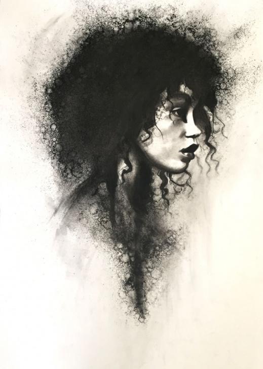 Stunning Black Charcoal Drawings Simple Black Women Art! – Stoekenbroek: Torn, Charcoal Drawing On Paper Photo