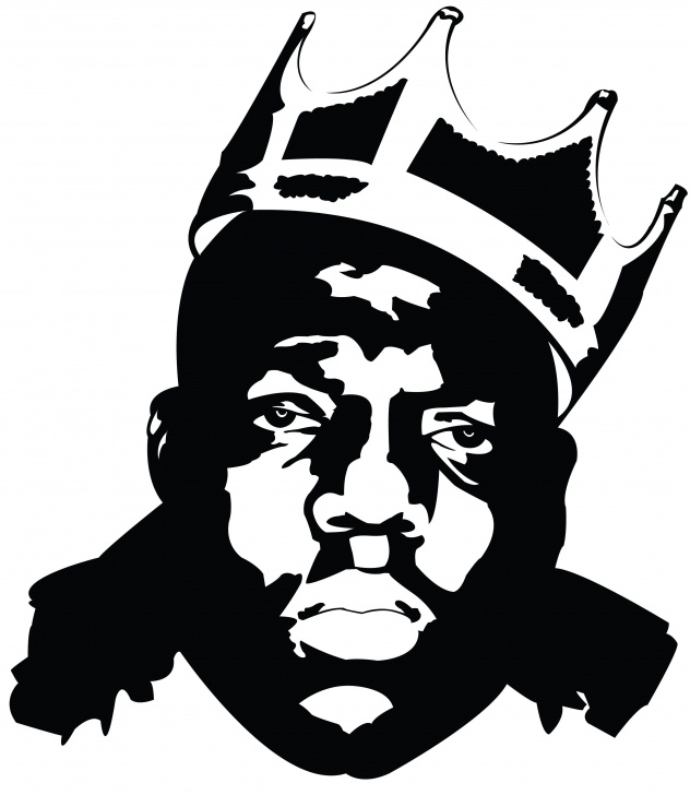 Stunning Black Stencil Art Ideas Biggie Smalls Black And White | Prints In 2019 | Biggie Smalls Images
