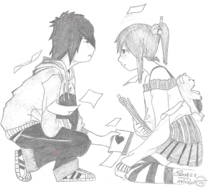 Stunning Boy Proposing Girl Pencil Sketch Step by Step Propose Pencil Sketch Image