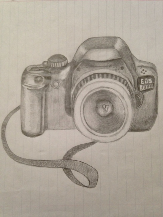 Stunning Camera Pencil Sketch Simple Camera #pencildrawing #pictures | Art | Pencil Drawings, Drawings, Diy Pic