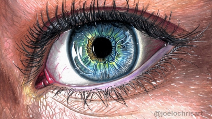 Stunning Colored Pencil Eye Drawing Easy How To Draw A Realistic Eye With Colored Pencils Picture