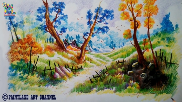 Stunning Colored Pencil Landscape Ideas How To Draw And Shade With Colored Pencils | Coloring | Paint | Step By Step Photos