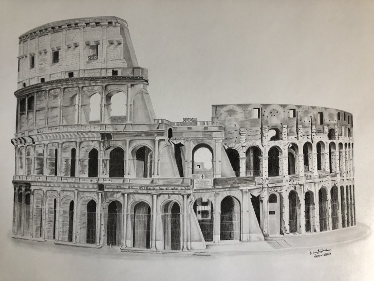 Stunning Colosseum Pencil Sketch Techniques Colosseum/ Flavian Amphitheater | [Charcoal And Pencil Drawi… | Flickr Photos