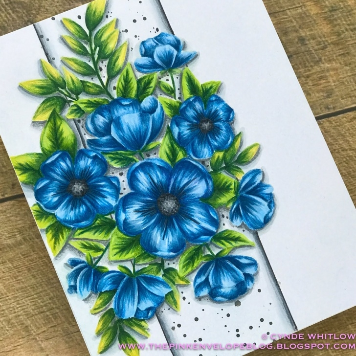 Stunning Colour Pencil Shading Flowers Tutorial Shading With Color Pencil Over Copic Markers - Penny Black Radiant Pic