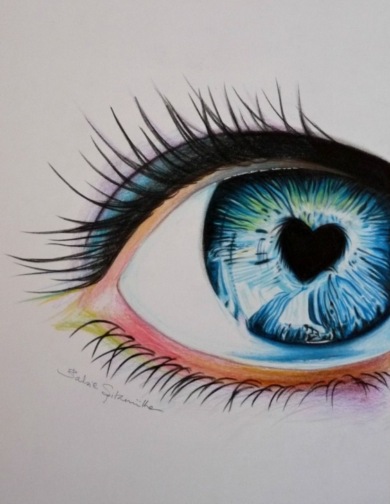 Stunning Cool Colored Pencil Drawings Techniques Colored Pencil Eye Drawing By Barbiespitzmuller.deviantart On Photos