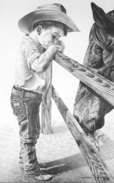 Stunning Cowboy Pencil Drawings Techniques Western Horse Pencil Drawings | Glen Powell,pencil,drawings,western Photo