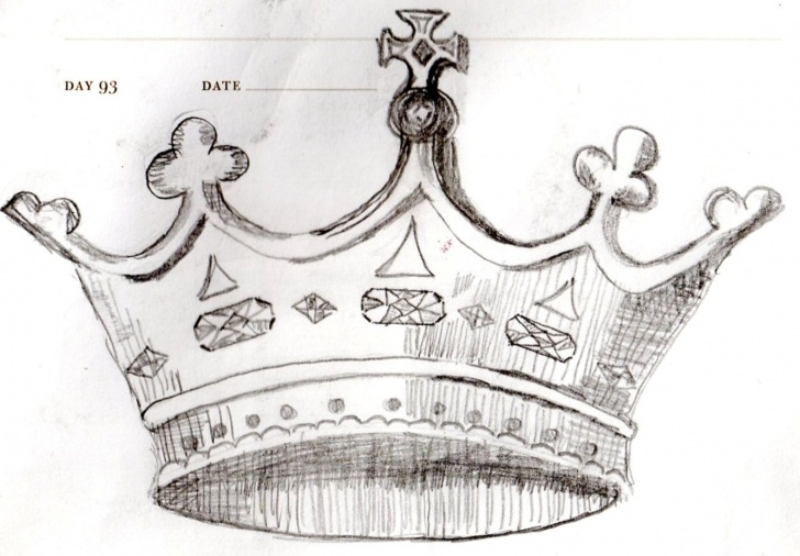 Stunning Crown Pencil Drawing Free Crown Sketch At Paintingvalley | Explore Collection Of Crown Sketch Photo
