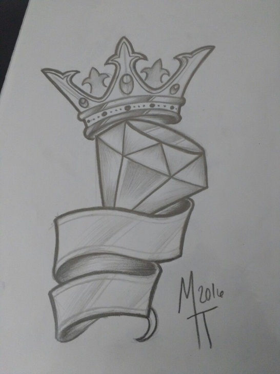 Stunning Crown Pencil Drawing Free Rei Diamante | Flash In 2019 | Graffiti Drawing, Drawings, Pencil Picture