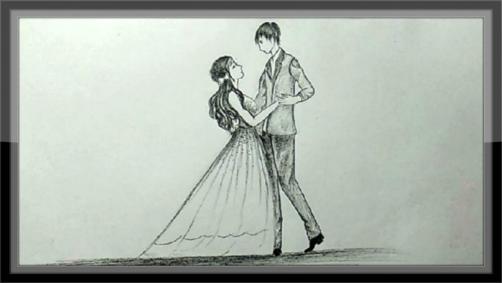 Stunning Dancing Couple Sketch for Beginners Pencil Drawing Romantic Valentine Couple Dancing Photo