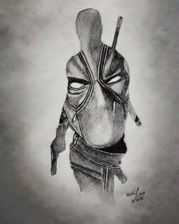 Stunning Deadpool Pencil Sketch Techniques for Beginners Pencil Drawing On A3 Paper Draw By Mohit Kumar Rao 2016 #deadpool Pics