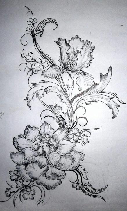 Stunning Design Pencil Sketch Ideas Flower Design,, Pencil Drawing *** | Drawings | Drawings, Pencil Images