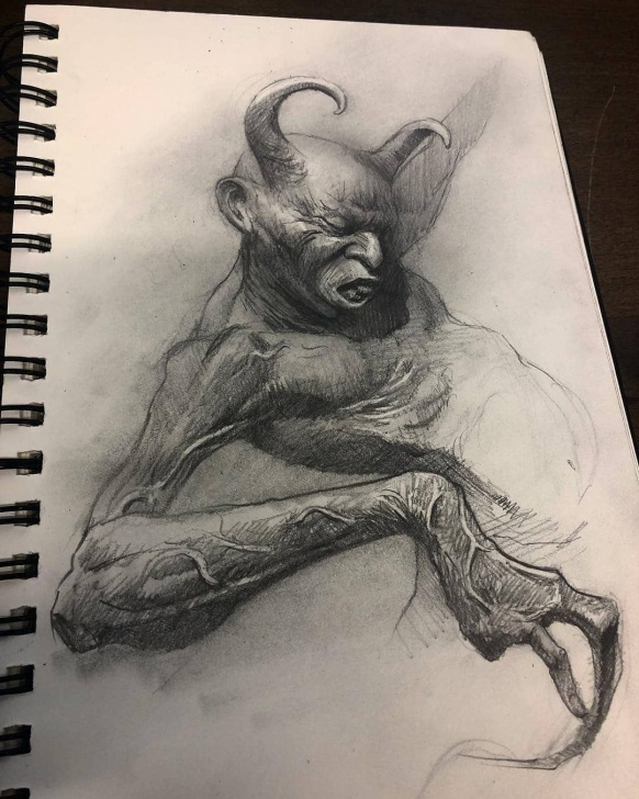 Devil Drawings In Pencil