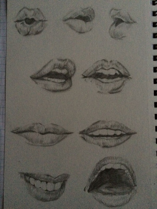 Stunning Different Pencil Drawing Easy Pencil Drawing Of Different Expressions Of Lips | Personal Work In Photos