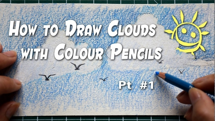 Stunning Drawing Clouds With Colored Pencils Easy How To Draw Clouds With Colour Pencils / 3D Clouds Pt #1 (For Beginners) Photo