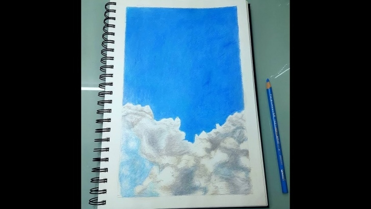 Stunning Drawing Clouds With Colored Pencils Free Drawing Clouds Using Colored Pencils | Timelapse Image