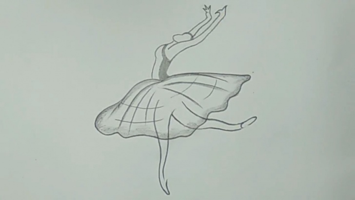 Stunning Drawing Easy Pencil Lessons Cool Pencil Drawing A Dancing Girl For Beginners #easy Pics