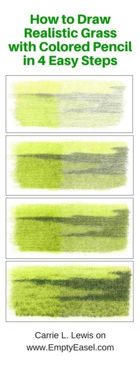 Stunning Drawing Grass With Colored Pencil Simple Draw Realistic Grass In 4 Simple Steps - Here's How | Colored Photos