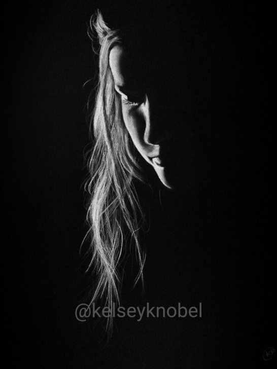 Stunning Drawing On Black Paper With White Pencil Step by Step White Charcoal On Black Paper. Drawing By @kelseyknobel Unknown Pic