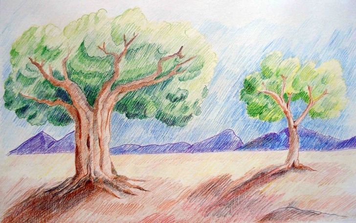 Stunning Easy Colored Pencil Art Courses Draw A Landscape - Lessons - Tes Teach Images