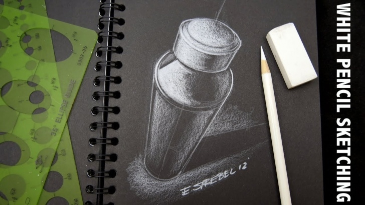 "Stunning Easy Drawing On Black Paper With White Pencil Easy White Prismacolor Pencil Technique ""id"" Industrial Design Sketch On Black  Paper Tutorial Picture"